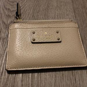 Kate spade card holder (with zipper)